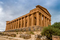 Concordia temple in agrigento ruins Royalty Free Stock Photo