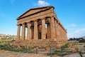 Concordia temple in Agrigento, Sicily, Italy Royalty Free Stock Images