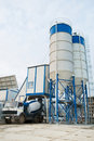 Concrete batching plant Royalty Free Stock Photography