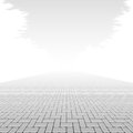 Concrete block pavement illustration Stock Photography
