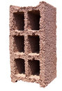 Concrete block - Red orange Royalty Free Stock Image