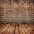 Concrete Brick Walls And Wood ...