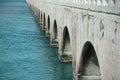 Concrete bridge with arches Royalty Free Stock Photo
