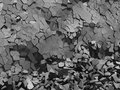 Concrete chaotic fragments of explosion destruction wall Royalty Free Stock Photo