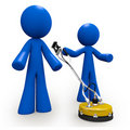 Concrete Cleaners 3d Blue Men Royalty Free Stock Photography
