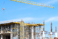 Concrete construction site new building Royalty Free Stock Photos
