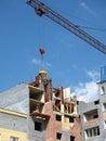 Concrete and crane