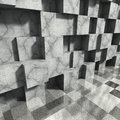 Concrete cubes abstract architecture background Royalty Free Stock Photo