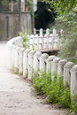 Concrete fence beautiful arched outdoors Royalty Free Stock Photos