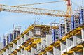 Concrete formwork and crane Royalty Free Stock Photos