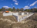 Concrete foundation for a multi family condo unit Stock Photography