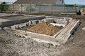 Concrete Foundations Stock Image