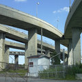 Concrete Highway Viaducts Royalty Free Stock Photography