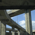 Concrete Highway Viaducts Stock Photo