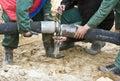 Concrete hose Royalty Free Stock Photo
