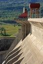 Concrete hydro electric dam Royalty Free Stock Photo