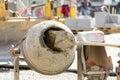 Concrete mixer on construction site Royalty Free Stock Photo