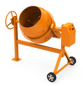 The concrete mixer d generated picture of a Royalty Free Stock Image