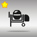 Concrete mixer illustration black icon button logo symbol concept high quality on the gray background Royalty Free Stock Images