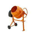 Concrete mixer isolated with clipping path included Royalty Free Stock Photo