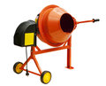 Concrete mixer isolated on a white background Stock Image