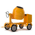Concrete mixer isolated on white d illustration background Stock Image