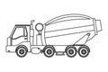 concrete mixer truck icon Royalty Free Stock Photo