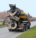 Concrete mixer truck Royalty Free Stock Photo