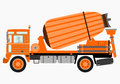 Concrete mixer truck silhouette of on a white background Royalty Free Stock Image