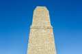 Concrete monument with number Royalty Free Stock Photo