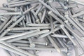 Concrete nails heap of silver texture Royalty Free Stock Image