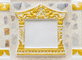 Concrete picture frame using in thai temple Royalty Free Stock Photography