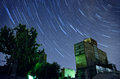 Concrete plant star trail Royalty Free Stock Photo