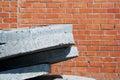Concrete plates. Royalty Free Stock Image