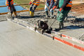 Concrete pouring on the construction site Royalty Free Stock Photo