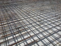 Concrete Reinforcing Bars at a Construction Site Royalty Free Stock Photo
