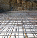 Concrete Reinforcing Mesh at a Construction Site Royalty Free Stock Photo