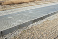 Concrete road barriers metal mesh Royalty Free Stock Photo