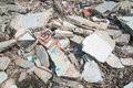 Concrete rubble debris on construction site Stock Images