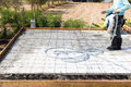 Concrete slabs  construction Royalty Free Stock Photo