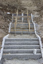 Concrete stairs a composition with Royalty Free Stock Photo