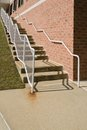 Concrete Stairway with Steel Railing Stock Images