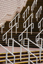 Concrete steps with railings Stock Image