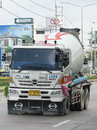 Concrete truck no.1506 of siamcitycement Royalty Free Stock Photo