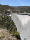 The concrete Tumut dam in the Snowy mountains Stock Photo