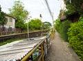 Walk way along the drainage canal Royalty Free Stock Photo