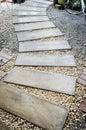 Concrete walkway in garden curve Stock Image