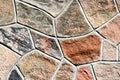 Concrete Wall - Mosaic Pattern Royalty Free Stock Photo