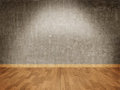 Concrete wall and parquet floor Royalty Free Stock Image