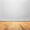 Concrete walls and wood floor for text and background Royalty Free Stock Photo